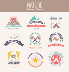Nature Logo Collection vector image vector image