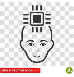 Neural computer interface eps icon vector