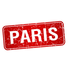 Paris red stamp isolated on white background vector