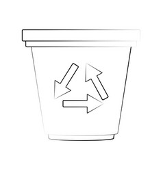 recycle can isolated vector image vector image