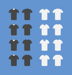 set of t-shirt icons vector image