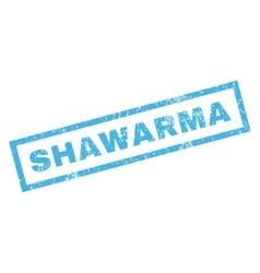 Shawarma rubber stamp vector