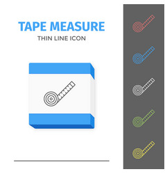 simple line stroked tape measure icon vector image vector image