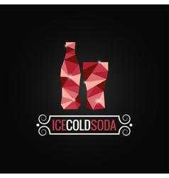 Soda bottle poly design background vector