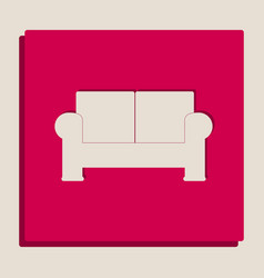 Sofa sign grayscale version vector
