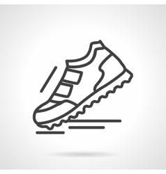 Sports footwear black line icon vector image
