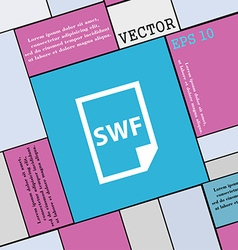 Swf file icon sign modern flat style for your vector