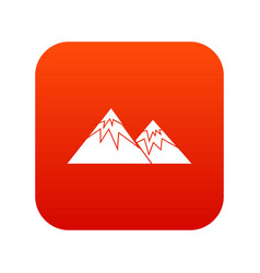 Swiss alps icon digital red vector