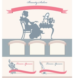 Template for beauty salon vector image vector image