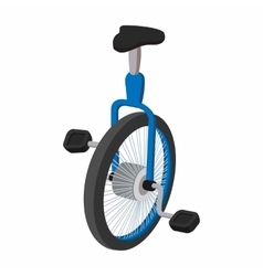 Unicycle one wheel bicycle cartoon vector
