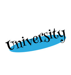 University rubber stamp vector
