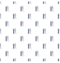 Zipper and needle pattern seamless vector