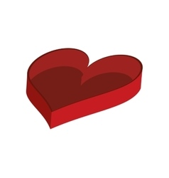 Empty heart shaped box icon vector