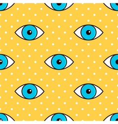 Eyes abstract dotted seamless pattern background vector