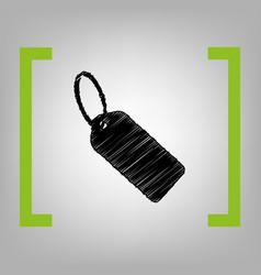tag sign black scribble icon vector image