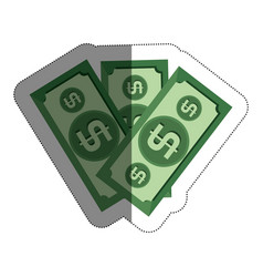 Cash money isolated icon vector