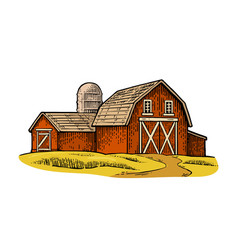 Organic farm engraving vintage black vector