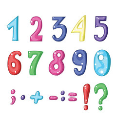 Set of cartoon mathematical symbols vector