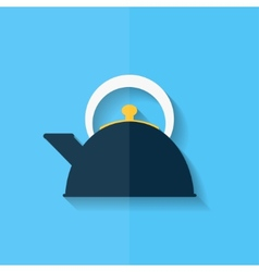 Teapot icon coffee pot symbol flat design vector