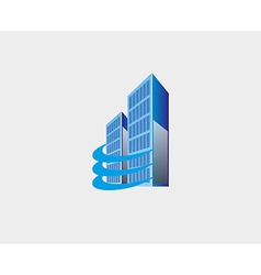 Holding skyscrapers business real estate building vector
