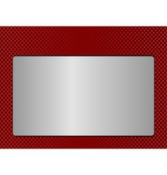 Red metal plate background vector
