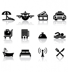 hotel and travel icons vector image