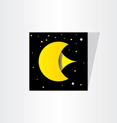 Moon star space letter e background vector