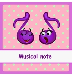 Musical note funny characters vector image