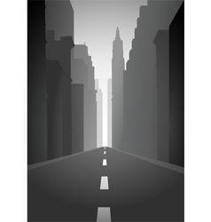 An empty city street vector
