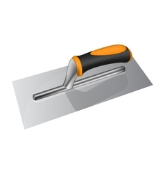 Photorealistic plastering trowel with plastic vector