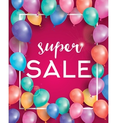 Super sale poster on red background vector