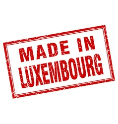 Luxembourg red square grunge made in stamp vector