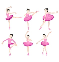 Ballerina set vector