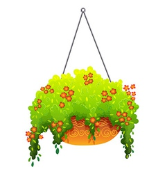 A hanging houseplant vector