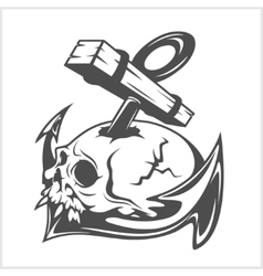 Anchor and skull vector image