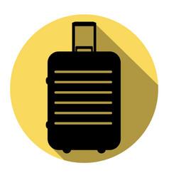 Baggage sign flat black icon vector