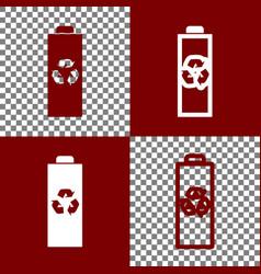 Battery recycle sign bordo vector
