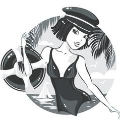 Beach Girl vector image vector image