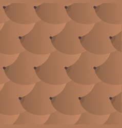 boobs african american pattern brown breasts vector image