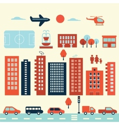 city modern elements vector image vector image