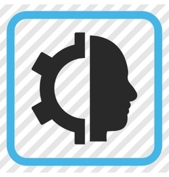 Cyborg Gear Icon In a Frame vector image