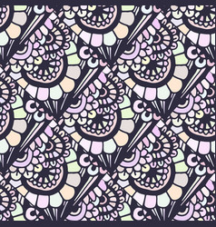 Doodle seamless pattern in creative floral vector