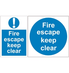 Fire escape signs vector image vector image