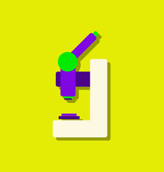 Flat icon design collection laboratory microscope vector