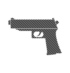 Gun sign on white vector image