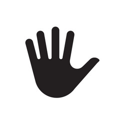 Hand palm silhouette icon vector