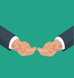 hands holding cooperation image vector image