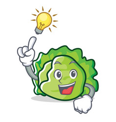 Have an idea lettuce character mascot style vector
