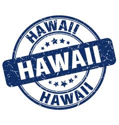 Hawaii blue grunge round vintage rubber stamp vector