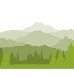 Landscape with mountain vector image vector image